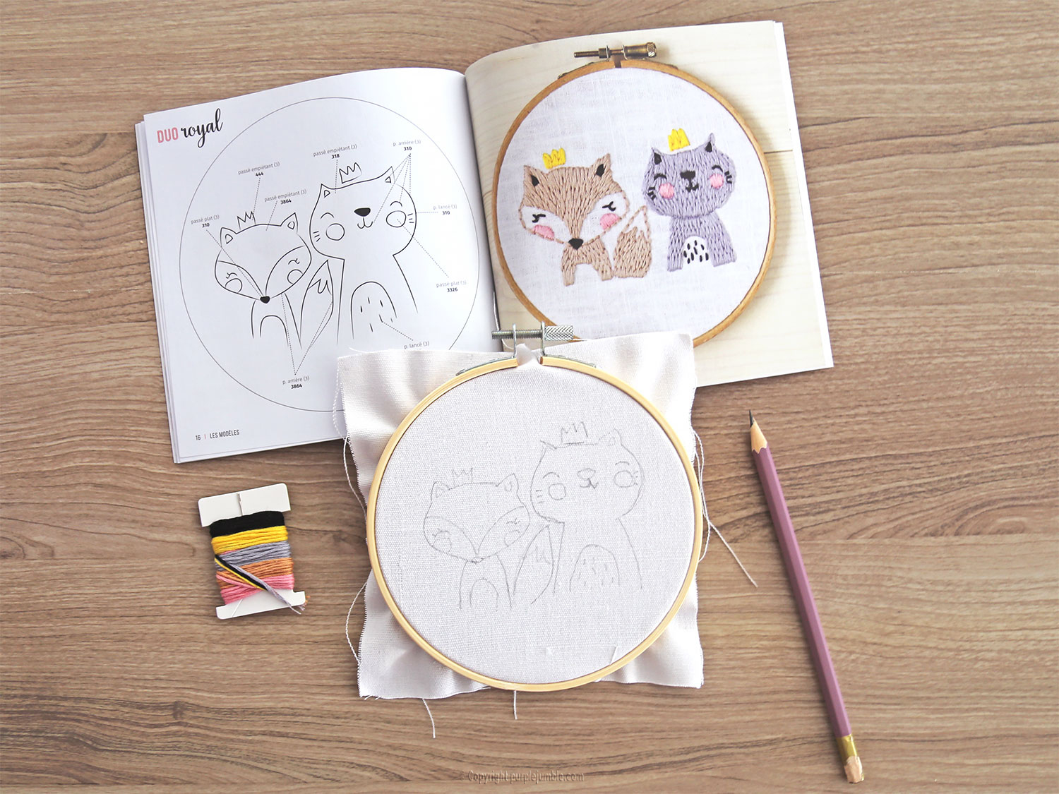 diy kit broderie animaux mignons