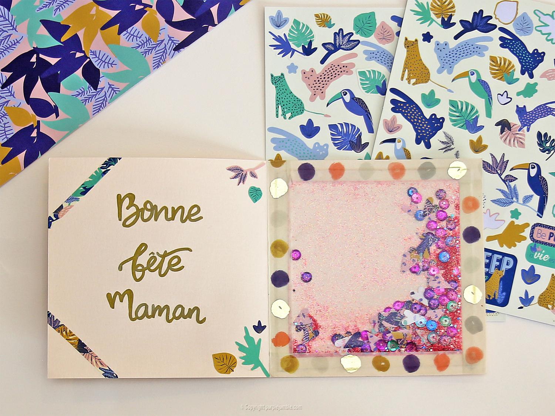 diy carte fête-des mères écriture