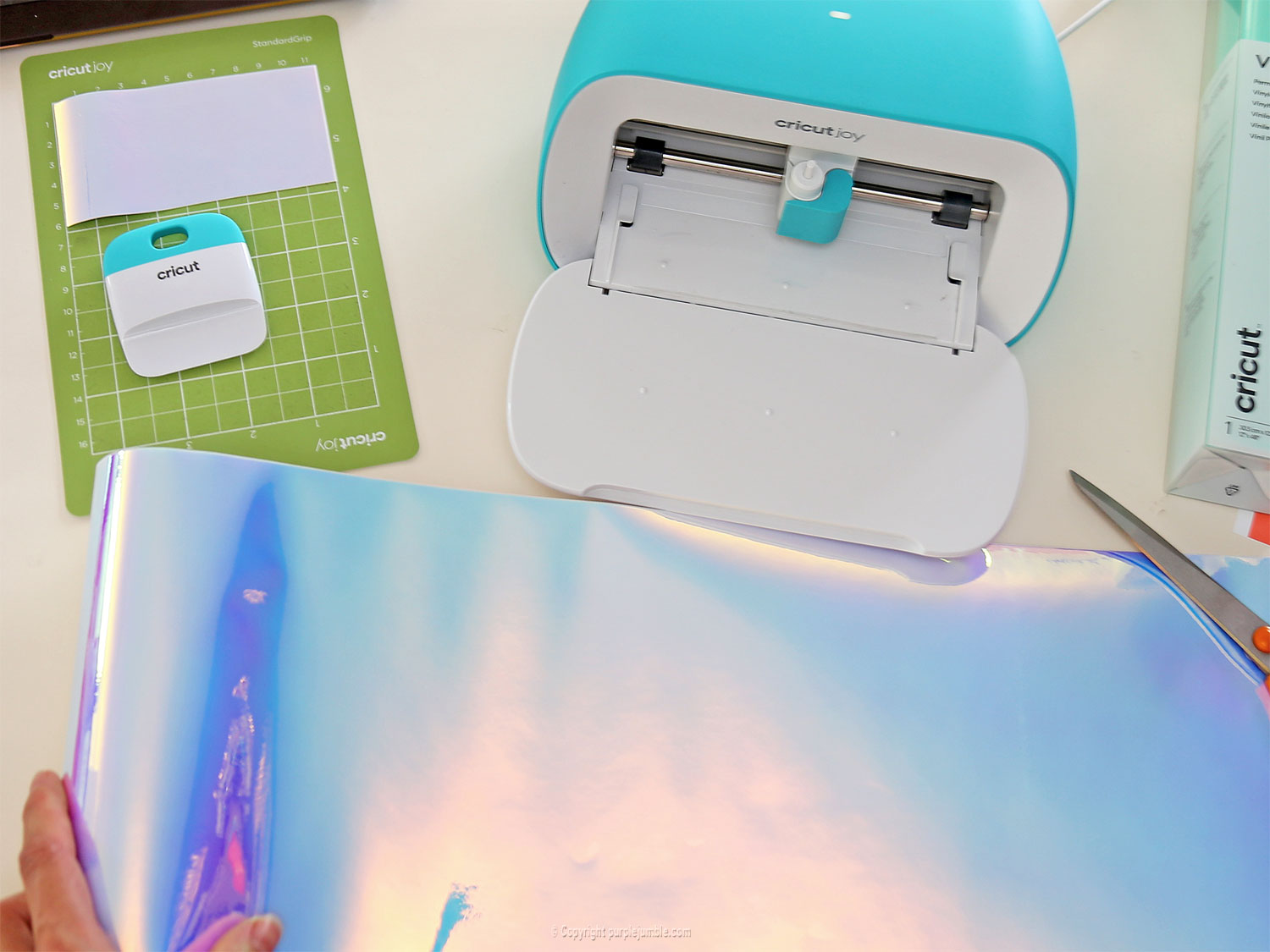 diy agenda customisé vinyl cricut holographique