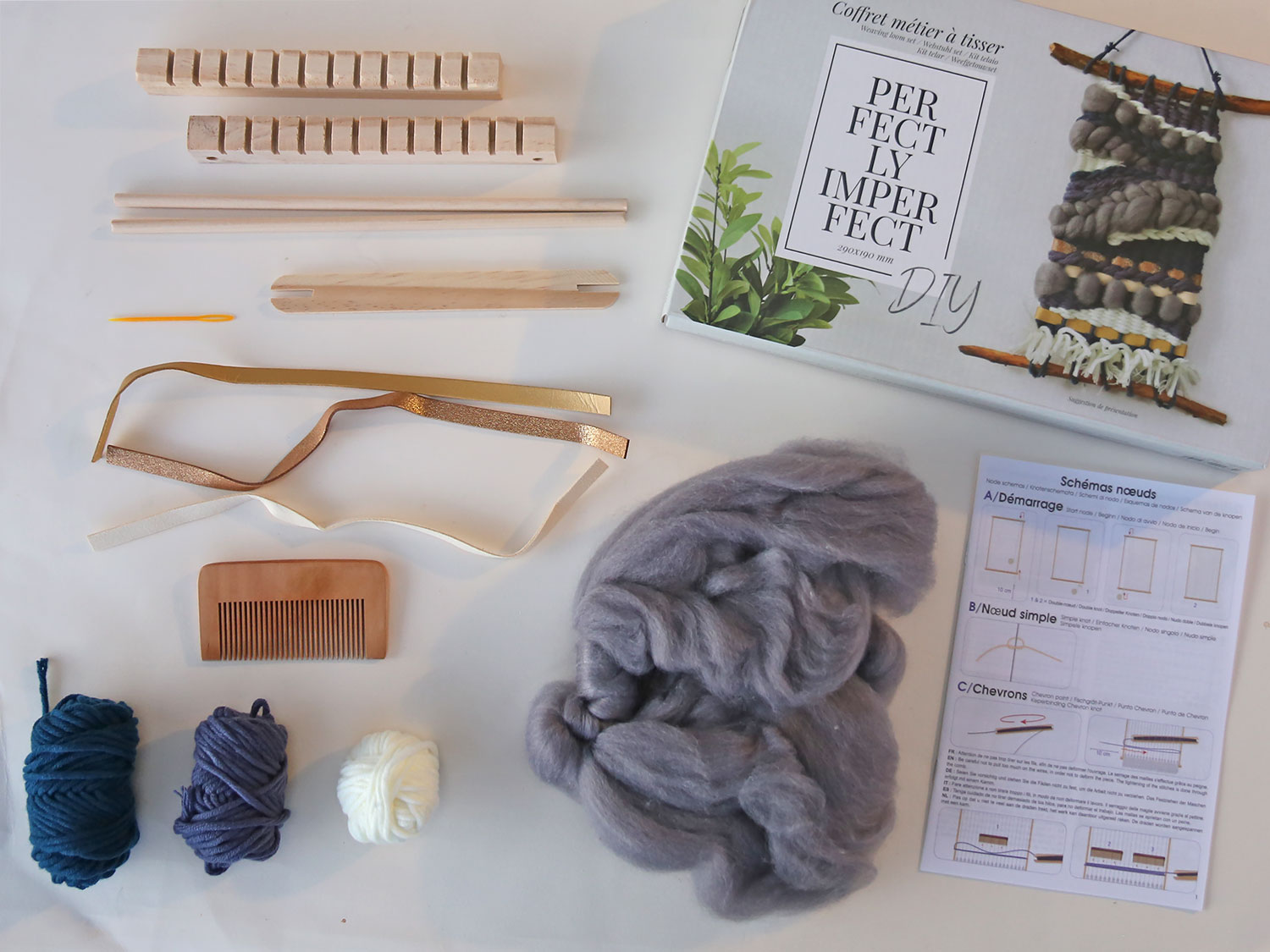 diy tissage graine creative materiel