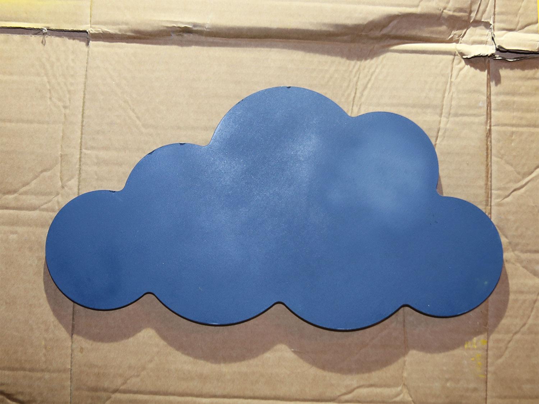 diy étagère nuages peinture