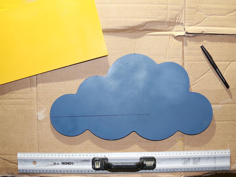diy étagère nuages tracé