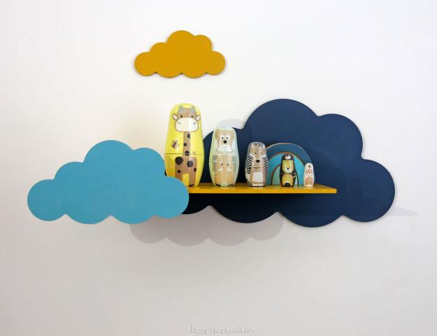 diy étagère nuages décorations