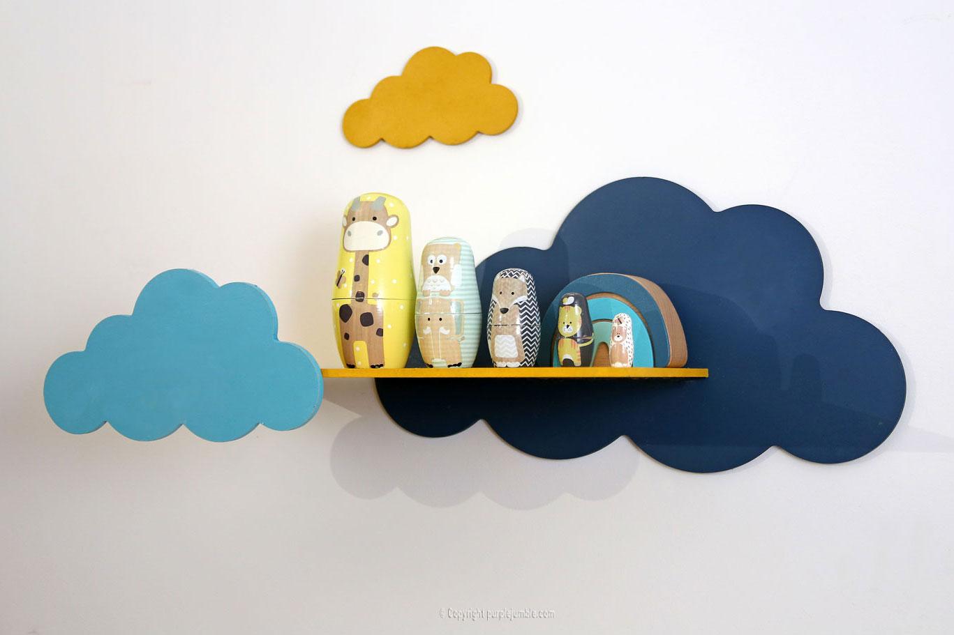 diy étagère nuages installation