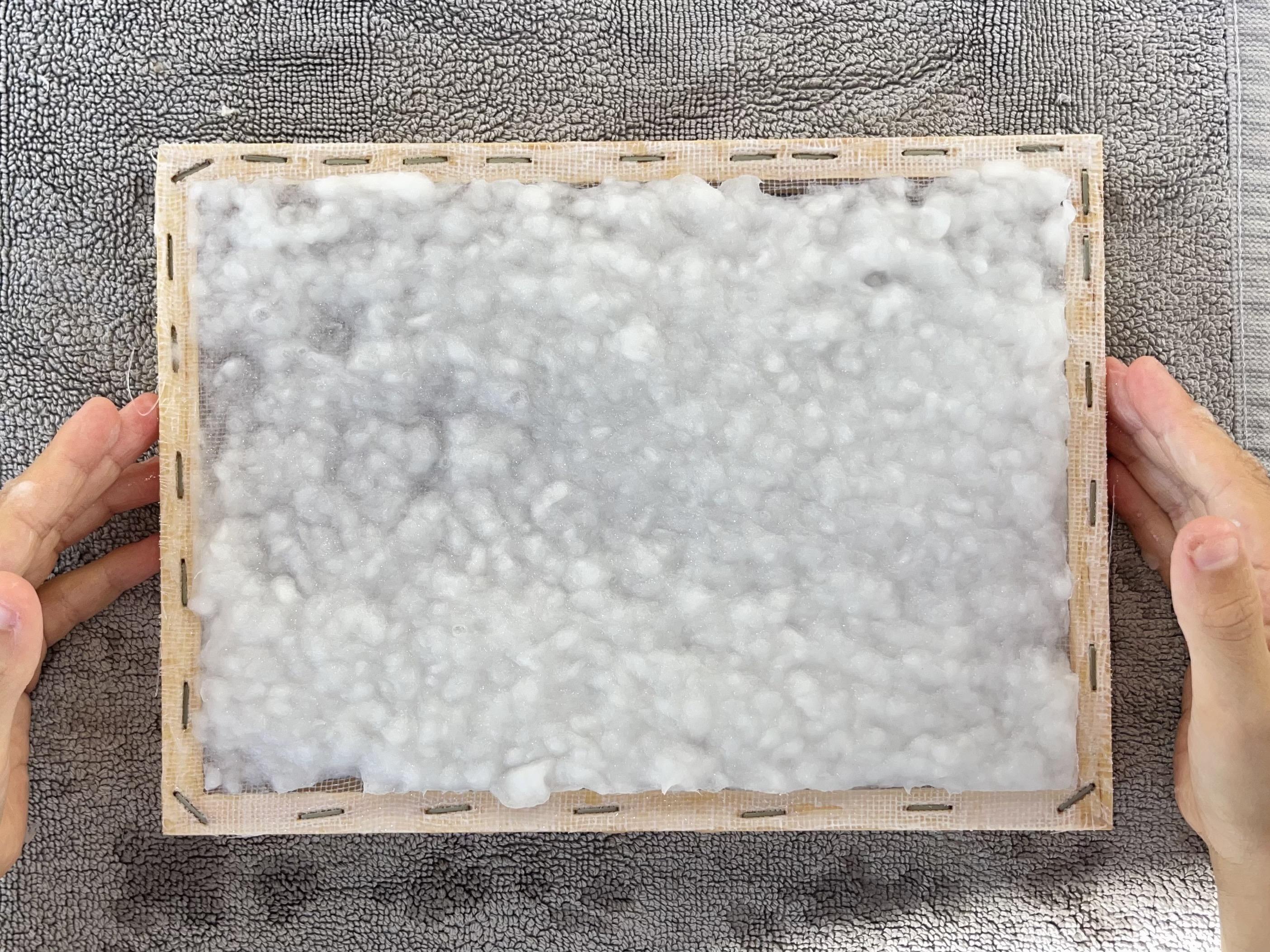 diy fabriquer du papier tamis
