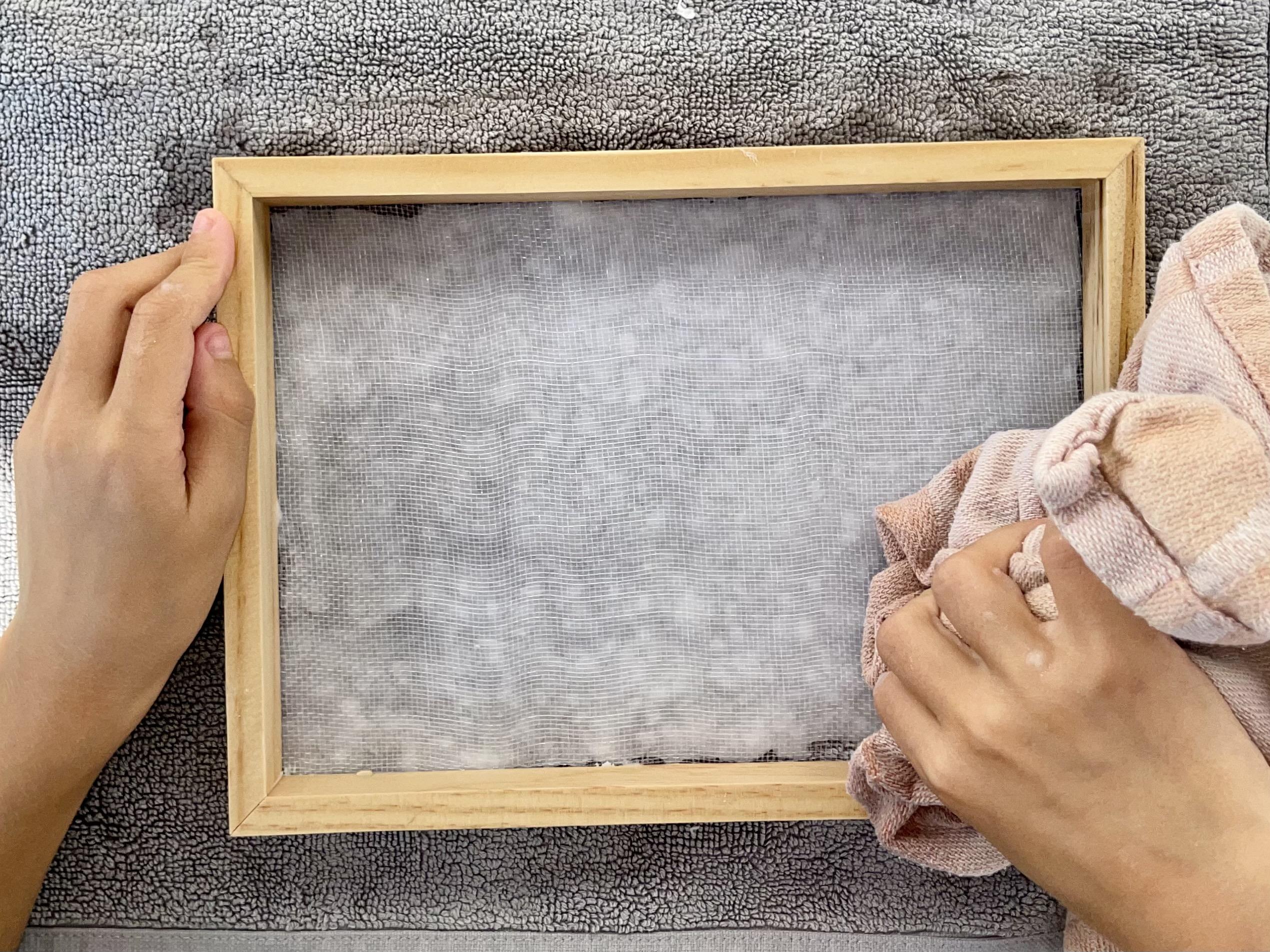 diy fabriquer du papier chiffon