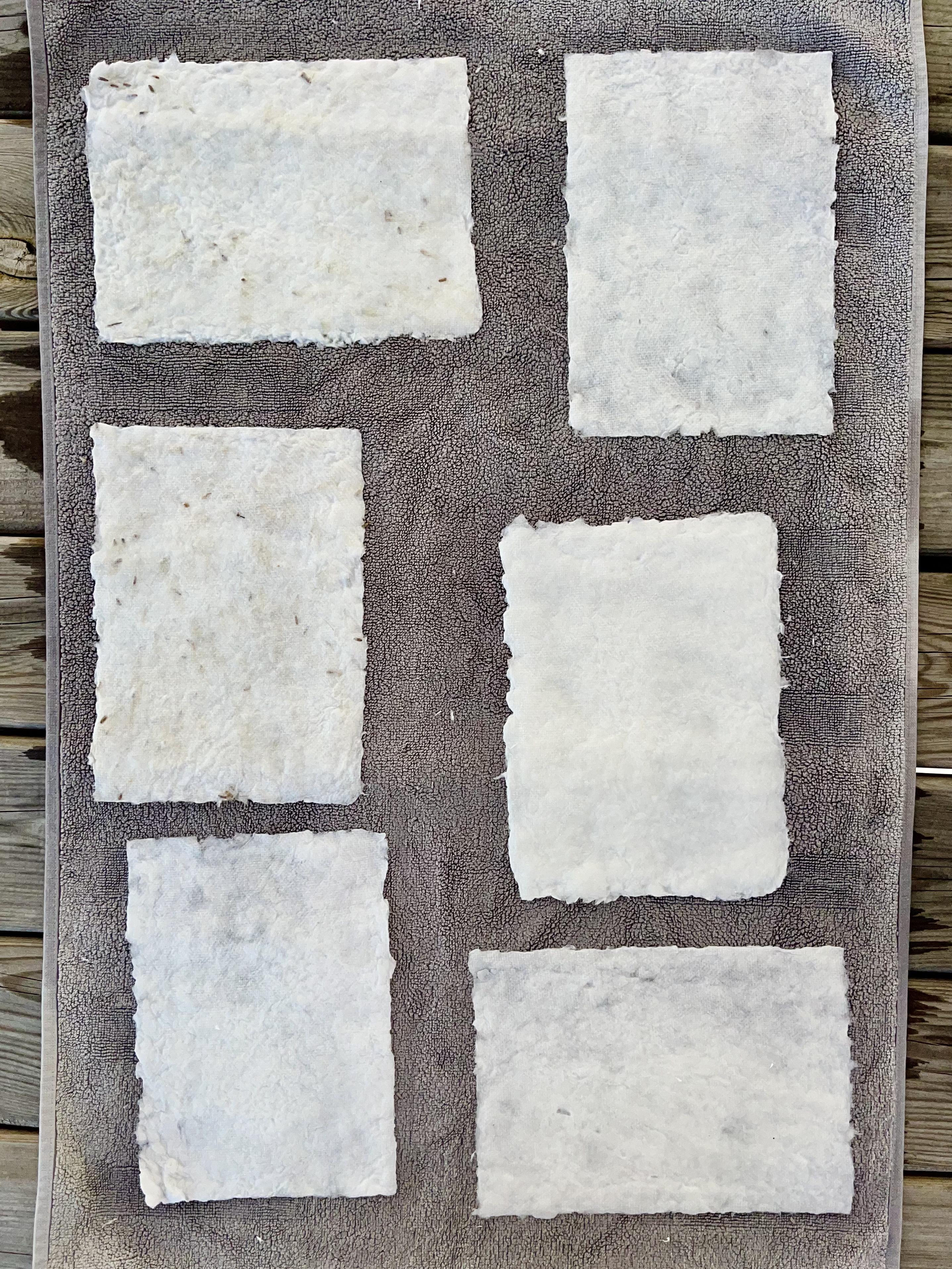 diy fabriquer du papier sechage
