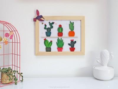 diy cadre cactus plastique dingue photo finale
