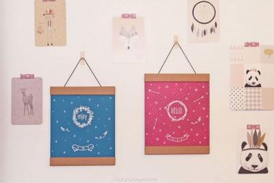 diy affiche stickers toga chambre suspension