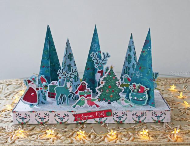 diy décor Noël papier table