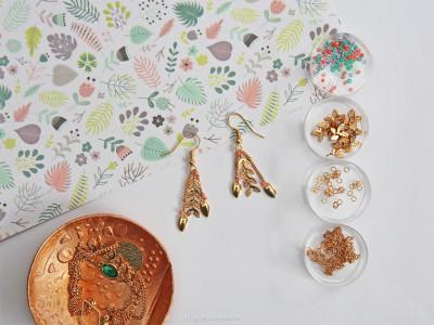 diy bijoux plaqués or boucle d'oreilles