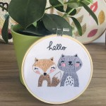 diy kit broderie animaux mignons fini